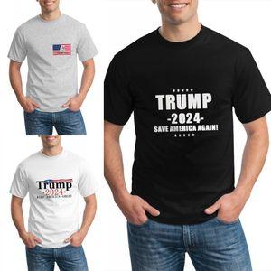 Trump 2024 Save America de nuevo T Shirts Crew Cuello de manga corta Moda Moda Casual Verano Adolescentes Tops