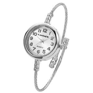 Wristwatches Luxury Silver Gold Women Creative Bangle Watch 2021 Top Brand Lady Round Dial Dress Clock Relogio Feminino
