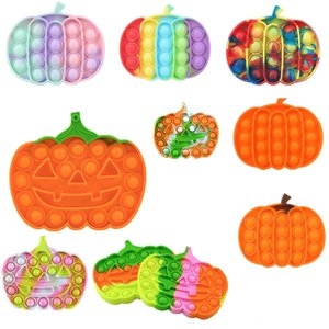 Decompression Fidget Toys Silicone Pumpkin Shape Push Bubble Sensory Toy Anti-stress Relaxing Autism Stress Relieve Special Needs DHL
