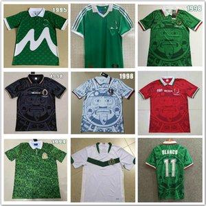 1986 1998 Vintage México Retro Soccer Jerseys Hernandez Blanco Uniformes 1994 Jorge Camisa de Futebol Kits