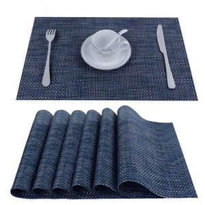 Table Runner Fashionable PVC Kitchen Mat Placemat Fireplace Stand Personal Napkin Waterproof Tablecloth
