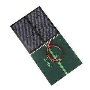 2021 0.7W 1.5V Mini Solar Panel Polycrystalline Solar Cell DIY Solar Toy Panel 70*70MM+Cable Wire Study 10pcs Free