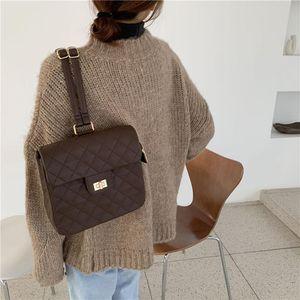 Backpack Style Women's Fashion Flip School Bag High Quality Leisure Shoulder Vintage Female Pu Leather