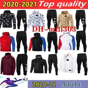 2021 Paris Futbol Hoodie Eşofman Ceket Seti Survetement 20/21 MBappe Icardi Futbol Kapüşonlu Ceketler Eğitim Suit Chandal Futbol