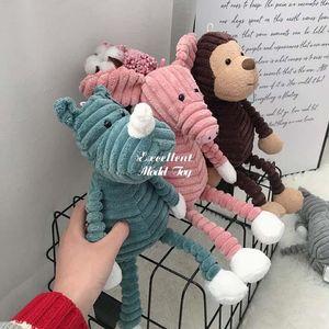 Ugly& Cute 33cm Monkey Fox Panda, Elephant Doll, Plush Toy, Stuffed Animal Pendant Ornament for Christmas Kid Girl Birthday Gift, Home Decoration, USEU