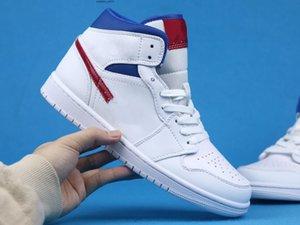 Buoni jumpmen jumpmen 1 Mid White University Blue Red BQ6472 Fashion Trainer New Designer Sneaker Dimensione