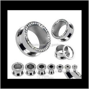 Plugs Tunnels Lot Clear Crystal Ear Gauges Flesh Tunnel Plug Helix Piercing Body Jewelry Pirsing Xxdkr Futrv