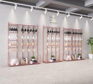 Underwear store display rack Commercial Furniture cabinet underwears floor middle island racks double-sided socks show bra shelf