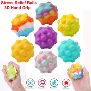 3D Hand Grip Ball toy Silicone Anti Stress Relief Balls for Adults and Kids Fidget Decompression Toys Finger Exerciser Strength Trainer