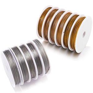 1 Roll / Lotti 0.3 / 0.45 / 0.5 / 0.6mm Resistente Resistente Resistente Resistente Filo Acciaio inox Tigre Coda Coda perline per gioielli per la ricerca