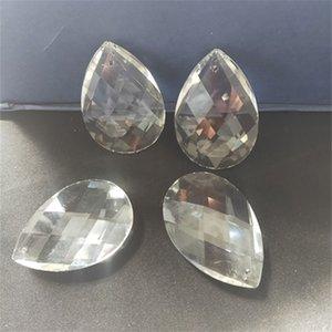 Promotion! 50pcs 38 * 21mm Crystal clair de larme de larmes de larme à facettes, coupure PRISM suspendue pendentif bijoux de bijouterie partie perle acrylique 609 Q2