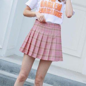 Heliar Femmes Jupe plissée Été S-2XL Taille haute Harajuku JK Preppy A-Line Casual Sweet Mignon Jupes