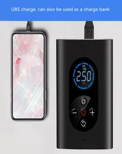 2021Inflator Pump Portable Smart Digital Tire Pressuon For Scooter Bike Motorcycle Pro Car Football Support one piece deliveryre Detecti Wireless charging ODM OEM