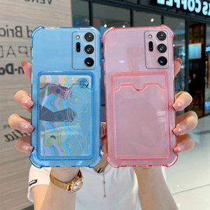 Mobil Phone Card Slot Cover for POCO X3 9T Note 8 10 4G Pro Protective Shockproof Wallet Clear Funda