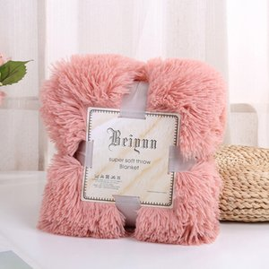 Double-faced Faux Fur Blanket Soft Fluffy Sherpa Throw Blankets for beds cover Shaggy Bedspread plaid fourrure cobertor mantas 368 R2
