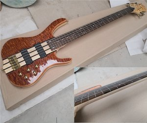 In stock 5 strings Fretless Electric Bass Guitar with Frets line,Golden Hardware,Rosewood Fingerboard,offer customize
