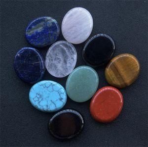 Wholesale Home Decor Thumb Worry Stone, Stress Relax Healing Reiki Crystal Pocket Palm Stones,Black Obsidian and Rose Quartz