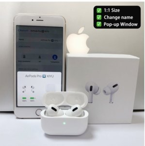 """Top Quality AirPods"""" Pro"""" H1 Wireless Earphones Chip Valid Serial Number Metal Hinge Headsets Rename GPS Wireless Charging Bluetooth Headphones with In-Ear Detection"""