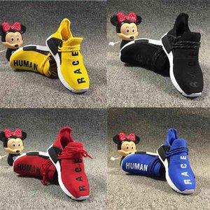 20Spharkrell Williams Младенческая человеческая гонка NMD детские кроссовки к ядро черно-белые желтые малыши кроссовки дети мальчики девушки кроссовки
