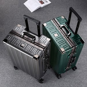 Suitcase, universal wheel, trolley, password, luggage, male and female aluminum frame