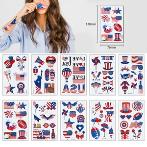 American flag Tattoos Independence Day Disposable Face Arm Makeup Stickers Temporary Body Art United States Convient