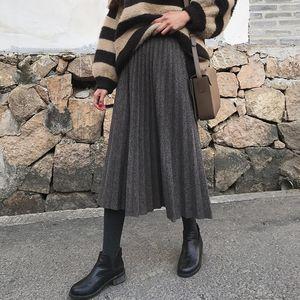 Skirts Knit Elegant Stretchy Skirt Pretty Long High Quality Highwaist Cotton Slim Saia Cintura Alta Coat JJ60DQ