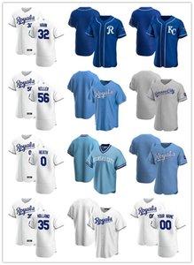 Custom Jersey Mens Women YouthCidade de Kansasmembros da realeza32 Jesse Hahn 0 Nick Heath 35 Greg Holland 56 Brad Keller Baseball Camisas