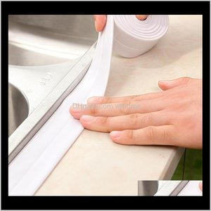 Stickers Décor Home & Garden1 Roll Sealing Waterproof Tape Pvc Acrylic Material Kitchen Bathroom Wall Adhesive Crack Repair 320Cm In Stock Dr