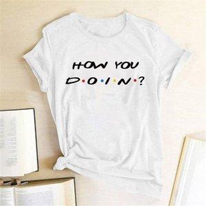 Femme Gaphic Tops Women Clothes Ropa De Verano Mujer How You Doin Print T-shirt Fashion Short Sleeve Summer Tee Shirt Women's