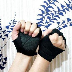 Gants de levage de poids Néoprène Gants antidérapant GOLD GANTS GANTS Caoutchouc rembourré Hommes d'exercice Femme Body Building Training Workout L0312