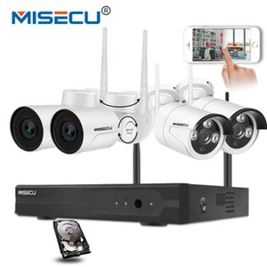 Wireless CCTV System 4CH NVR Plug And Play Kit 2MP Outdoor Waterproof Pan Tilt IP Wifi Camera P2P Home Security Systems
