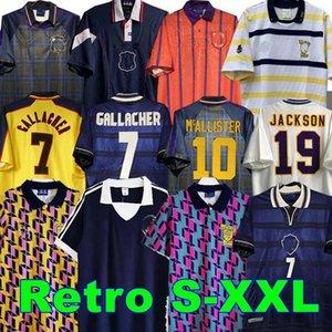 1978 1986 1982 Final de la Copa Mundial Scotland Jersey de fútbol Retro McCOIST Gallacher Lambert Classic Vintage Ocio Camisa de fútbol 1988 89 90 91 92 93 94 95 96 97 98 99