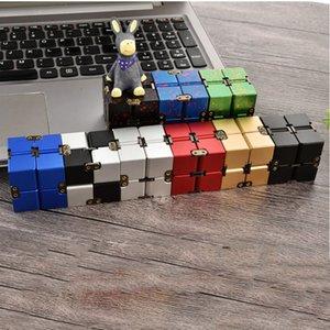 Metal !!! Criativo Infinity Cube Party Player Portátil Liga de Alumínio Infinito Alívio de Estresse para Crianças Adulto Presente Puzzle Mini Blocos De Descompression Toy