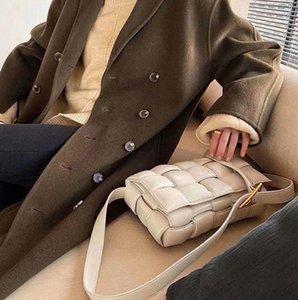 Weave cassette Evening bag chest diagonal the sponge pouch leather Metal marie chain belt Shoulder womens Chess pillow women handbag messenger U99Z#