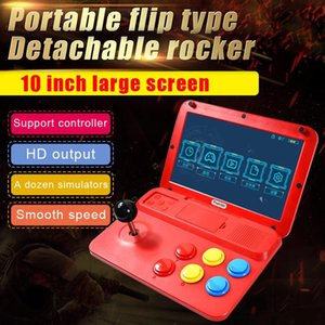 Portable Game Players Powkiddy A13 Video Console Handheld Player Arcade Joystick Built-in 3000 Games 10-inch Screen Support Wired Gamepad
