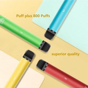 Disposable e cigarettes Puff plus vape pen device PreFilled 3.2 mL 800 Puffs Pod Cartridge 650 mAh Battery ecigs pods