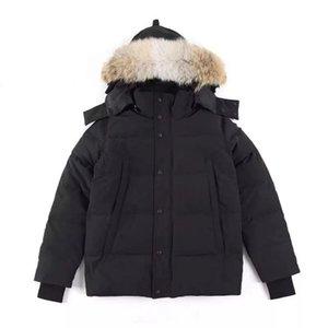 Ig Classic Fashion Real Coyote Coyote Fur Invierno Expediciones para hombre Wyndham Parka al aire libre Diseñador de gallina abajo Impresionante chaqueta gruesa caliente