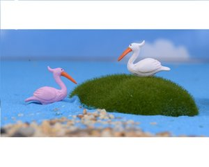 lovely mini cake toppers capsule toys flamingo decoration gift mix colors microlandschaft