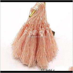 32Pcs Pack Mixed Color 7Cm Hanging Rope Silk Fringe Sewing Bang Tassel Trim Key For Diy Embellish Curtain Access H Yvhj2 Arts And Craf D6Lhq