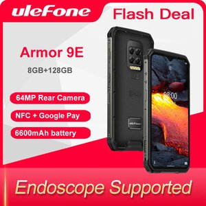 Ulefone Armor 9E 8GB+128GB Red Phone Android 10 Helio P90 Octa-core 2.4G+5G WIFI Mobilene 6600mAh 64MP Camera NFC Smartphone
