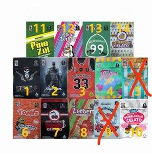 3.5g BackpackboyZ 33 Mylar Bags Tomyz Merzcato Lucky Hustle Batmancrazy Down 420 Erva seca Embalagem de flores à prova de criança