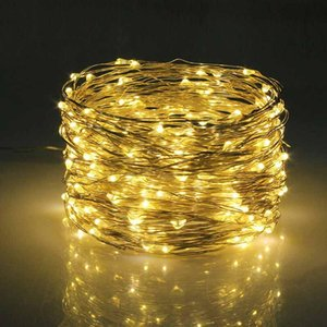 100 200 LED Solar Powered String Light Copper Wire Lights With Remote Control Holiday Outdoor Waterproof Decorative Party Decoration