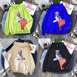 Japan Anime Demon Slayer Print Hoodies Sweatshirt Women Winter Oversized Warm Pullover Harajuku Streetwear Male Casual Hoodies Y0727
