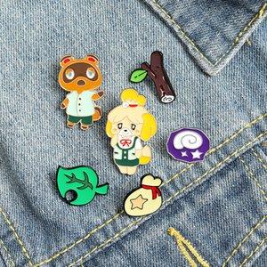 Lovely Cartoon Little Bear Brooches Pin Baking Paint Branch Animal Brooch Student Knapsack Collar Badge 2 5zb T2