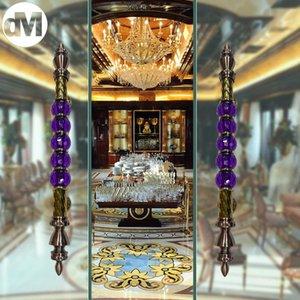 Handles & Pulls DM 2pcs Set Glass Door Handle Modern Luxury Villa El Home Office Clubhouse Wooden Gate Knobs Doors Artificial Purple