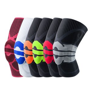 1Pcs 3D Basketball Knee Pads Support Silicon Padded Patella Brace Kneepad Protective Gear for Volleyball Sports Safety