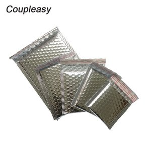 50Pcs Lot Silver Aluminum Film Shipping Envelopes with Waterproof Bubble Mailers Shockproof Padded Envelopes 9 Sizes