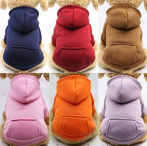 2020 New Pet Dogs Clothes Warm Puppy Apparel Small Dog Costume Coat Outfits Pocket Sport Styles Sweater Pets Supplies XS- XXL