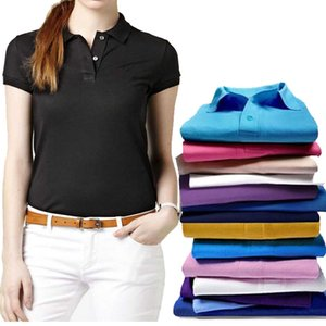 2021 Fashion New Womens Polos Shirts Crocodile Embroidery Casual Men Solid Color Tees Long Sleeve Slim Cotton Female Tops S-4XL