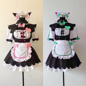 Costume AccessoriesAnime NEKOPARA Chocola Vanilla Maid Cosplay Costume Sexy Cute Lolita Dress Full Set Cat Maid Servant Dress Women Costume